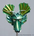 Dragon - leather mask by Alyssa-Ravenwood