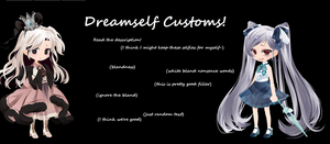 Dreamselfy Customs!  ~CURRENTLY ON HOLD~ by TheWizardAdopts