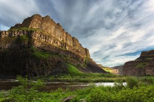 River Valley Bottom Stock by leeorr-stock