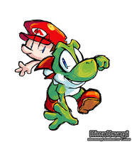 Yoshi and Baby Mario by ColdSandwich