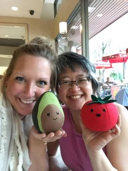 Posing with Mr. Avocado and Thomas Tomato by PHarold