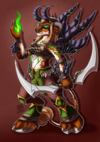 CM - PeM - Chiana the Tauren Demon Hunter by LadyRosse
