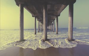 Huntington beach pier by NickBaker1689