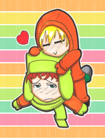 SP: Kenny x Kyle by Freaky-chan