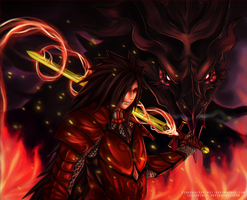 [Contest]Father of Dragons - Madara/Alduin by PrinceCaeruu