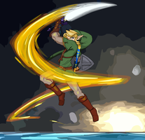 Link's Spin Attack - colored by Creamy423