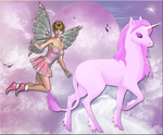 The Fairy and the Unicorn by WDWParksGal-Stock