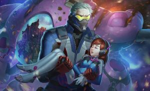 SOLDIER76 and DVA by papillonstudio