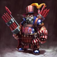 Background Touch-up: Uncle Sam Engineer by Moonymage