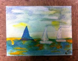 Sailboats by ElizabethTamara