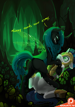 Chrysalis and Shining armor - Mommy needs army by Ashley-Arctic-Fox
