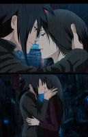 Madara x Haruko(OC) Kiss Under the rain by Lesya7