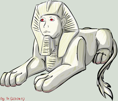 Egyptian Albino Sphinx by TinTans