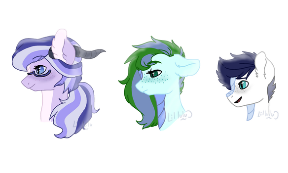Children of Sparity - headshots by LilLuluna