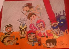 x-men daycare by Pradaninja