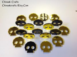Legend of Zelda Golden Skulltula Skull Tokens by ChinookCrafts