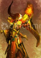 Fire Mage by Origami-Creative