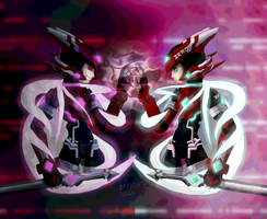 Fail_Speedpaint - Zero and  Omega Mythos by babyforte