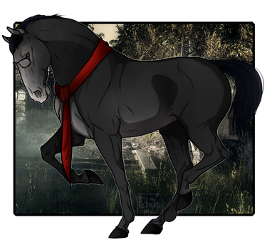Joseph Oda Horse version [The Evil Within] by ChiroMio