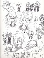 Kingdom Hearts Sketch Dump by Isoli
