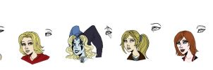 Void character faces by Lily-pily