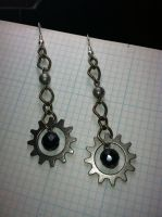 Jewelry - Steampunk - Earrings V1 by Kasdren