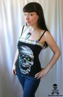 Plaid Mummy Skull Top by smarmy-clothes
