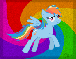 MLP FiM Rainbow Dash by CartoonSilverFox