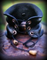Wet Formed Leather Corset Cuff by ReneeRutherford