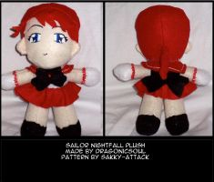 Sailor Nightfall- the plush by DragonicSoul