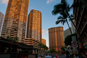Downtown Honolulu at sunset 2 by Robby-Robert