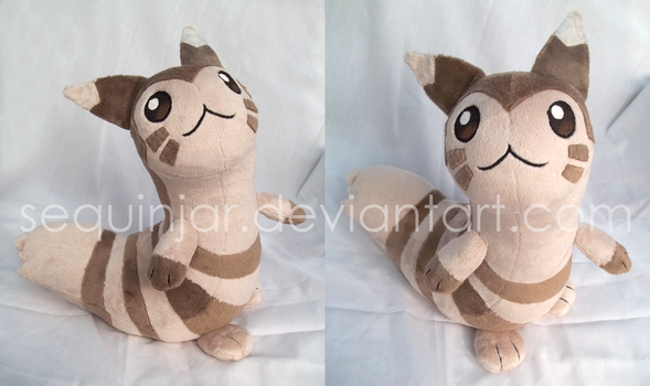 Furret plushie by sequinjar