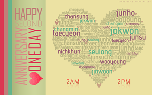 Happy 2nd Anniversary Oneday by kimbopeep