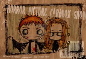 horror picture cardbox show by madewithsadness