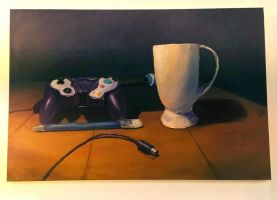 Gamecube Controller Still Life by bettermovesthanyou