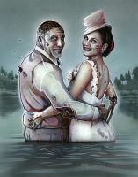 Zombie Wedding by Morrillustrations