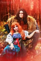 DragonLance - Tika Waylan and Caramon Majere  02 by Megane-Saiko