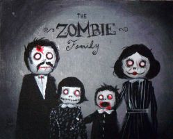 Zombie Family by maddartist83