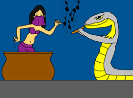 The Snake and the Dancer by danfrandes
