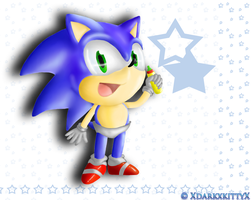 Wallpaper Baby Sonic by XdarkxkittyX