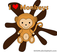 I love monkeys by 041296