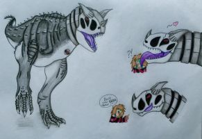 SK as carnotaurus by The-Angel-D