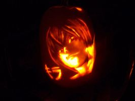 Raito-Pumpkin carving-dark by ZombieOwl
