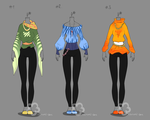 Some Outfit Adopts #9 - sold by Nahemii-san