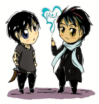 Chibi Malec by RoItsSomething
