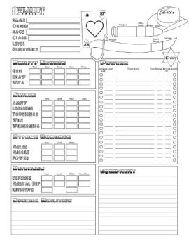 Owl Hoot Trail character sheet by 3Fangs