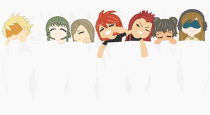 Tales of the Abyss characters sharing a bed by Sweetgirl333