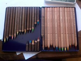 My beloved pencils by Into-TheWild