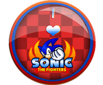 I Love Sonic The Fighters Badge by darkfailure
