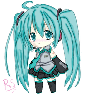 Miku haz been colored by Avatargeek123